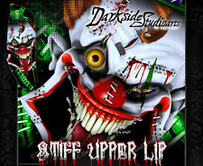 YAMAHA RAPTOR 660 (ALL YEARS) WRAP DECAL GRAPHIC SET KIT 'STIFF UPPER LIP' GREEN