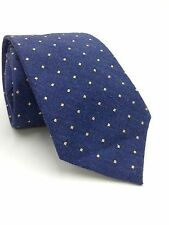 $95 CLUB ROOM Men`s YELLOW BLUE  DRESS POLKA DOT NECK TIE CASUAL NECKTIE 59x3.25