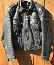 Mens Vintage Leather Harley Davidson Motorcycle Jacket S Mens 36