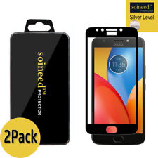 [2-Pack]SOINEED Motorola MOTO E4 Plus FULL COVER Tempered Glass Screen Protector