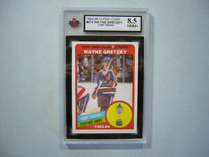 1984/85 O-PEE-CHEE NHL HOCKEY CARD 374 WAYNE GRETZKY TROPHY KSA 8.5 NM/MINT+ OPC