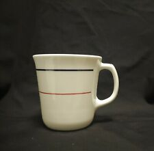 Corelle Corning Plymouth Pattern Mug Cup Blue & Red Bands