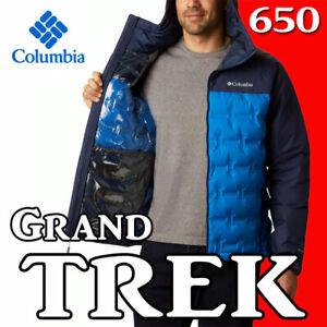 MEN'S COLUMBIA GRAND TREK 650 DOWN JACKET OMNI HEAT TECH WATERPROOF REFLECTIVE M