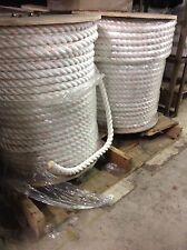 "1"" x 600' Polydac Poly Dacron Combo Rope MTC Dock Line and Anchor Climbing Rope"