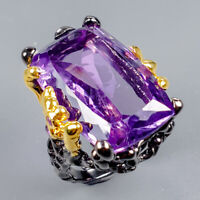 Amethyst Ring Silver 925 Sterling Fine Art27ct+ Size 7.5 /R128279