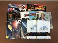 Video Game Strategy Guide Lot of 16 Books Zelda Final Fantasy Kombat Parasite