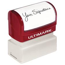 "Pre-Inked Signature Stamp - Ultimark - .8"" x 2.3"""