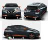 modanature paraurti anteriore+posteriore+laterale arancio/orange Nissan Micra 17