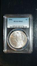 1896 P Morgan Silver Dollar PCGS MS63 UNCIRCULATED $1 Coin Starts At 99 Cents!