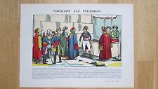 Napoléon aux pyramides. Campagne d'Egypte Bonaparte Imagerie Pellerin Epinal TBE