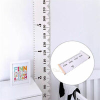 1x Wooden Height Growth Chart Kids Room Decor Wall Hanging Height Measure Ruler