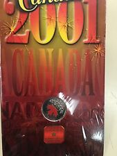 2001 Canadian colored quarter Sealed