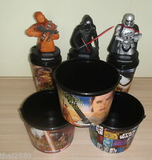 Star Wars VII Force Awakens 3 Bucket +3 Cup +3 Topper Figure Thailand Authentic