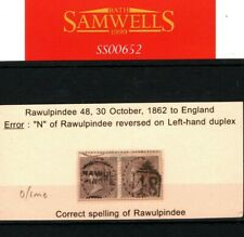 More details for india qv postmarks rawulpindee duplex 1862 {samwells-covers}ss652