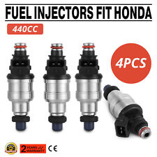 OEM 440cc Fuel Injectors For Honda B16 B18 B20 D16 D18 F22 H22 H22A VTEC Can