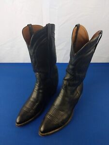 Vintage Men's LUCHESE Black COWBOY BOOTS Size 10 D