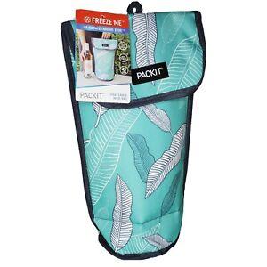 Packit Wine Water Bottle Cooler Carrier Bag Freezable Portable Holder Teal