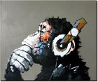 Funky Monkey - New Extra Large Beautiful Animal Art Huge Oil Painting on Canvas
