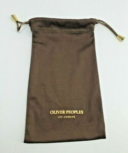 Oliver Peoples Sunglasses/Eyeglasses Brown/Gold Drawstring Storage/Cleaning Bag
