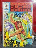 1992 VALIANT COMICS MAGNVS #8  SIGNED BOB LAYTON    MAGNUS ROBOT FIGHTER