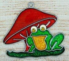 Vintage Suncatcher Frog & Toadstool Mushroom Window Decoration Ornament