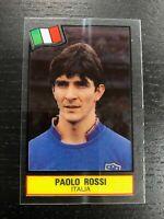 PAOLO ROSSI  STICKER PLASTIC FOOTBALL SUPERSTARS 1985-86 NERY GOOD RARE