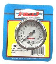 "AED 6101 Analog Liquid Filled Fuel Pressure gauge-1.5""-1/8""NPT Screw-in-0-15 PSI"