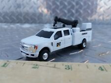 1/64 CUSTOM farm toy Ford cat caterpillar  dealer service pickup truck crane
