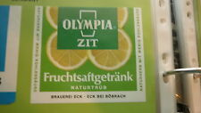 OLD GERMAN SOFT DRINK CORDIAL LABEL, ECK BREWERY BOBRACH, OLYMPIA GRAPE FRUIT
