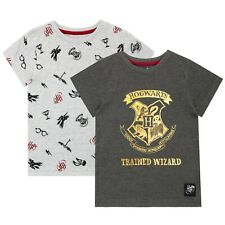 Harry Potter T-Shirt - Pack of 2   Boys Hogwarts Short Sleeve Tops   Kids Tees
