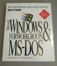 SEALED Microsoft MS-DOS 6.22 & Windows for Workgroups V.3.11 No Disc Only Card