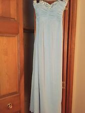 prom dresses, light blue, size 3 from Macy's, strapless, sparkles