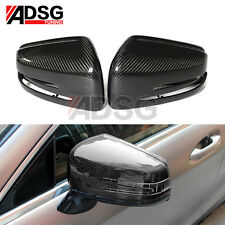 For Mercedes W204 C Class W218 CARBON FIBER Side Rear View Mirror House Cover