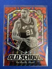 2019-20 MOSAIC PRIZM Reactive Blue /99 Rare Tim Duncan Old School Spurs
