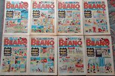 JOB LOT 8 x VINTAGE 1978 'BEANO' BRITISH COMICS : JULY &  AUGUST: VERY GOOD COND