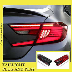 For Honda accord All LED Taillights Assembly 2018-2019 Dark LED Rear Lamps