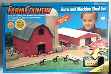 1/64 ERTL Farm Country Barn & Machine Shed  Set (145 Pieces) New & Hard to Find!