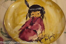 "De Grazia ""Love Me"" 1987, Children at Play Porcelain Collector Plate NIB"