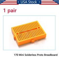 Mini Yellow Solderless Prototype Breadboard 170 Tie-points Arduino Shield US
