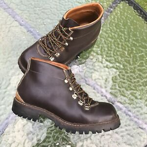 Itshide Commando Sole Brown Leather Hiking/Outdoors Boots Made In England | 7 UK