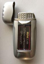 Jet Flame Cigarette Lighter Refillable Butane Gas Lighter With LED Light