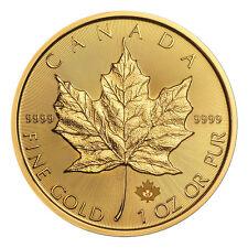 1 oz Gold Maple Leaf 2017 - 50 Dollar Kanada Goldmünze 999,9 Stempelglanz