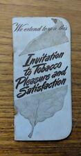 VINTAGE 1930s DENTAL SWEET SNUFF TOBACCO ADVERTISING NOTEBOOK