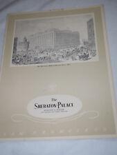 THE SHERATON-PALACE Restaurant MENU San Francisco April 26,1956