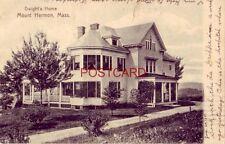 pre-1907 DWIGHT'S HOME, MOUNT HERMON, MA 1907 (Dwight Moody)