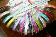 Sheer Mixed SPOTTED 12mm wide 5 metre length 15 colour Choice BLD3