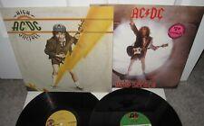 AC/DC HIGH VOLTAGE HEAT SEEKER ALBUM ANGUS YOUNG BON SCOTT LOT 2 ITEMS