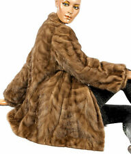 M - L Braun Nerzjacke gemustert Honig Nerz Pelzjacke brown mink jacket honey fur