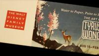 Tyrus Wong Bambi Artist Art Exhibit VIP Ticket Walt Disney Family Museum 2013