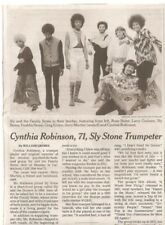 Cynthia Robinson 71 Obituary New York Times  Sly and the Family Stone